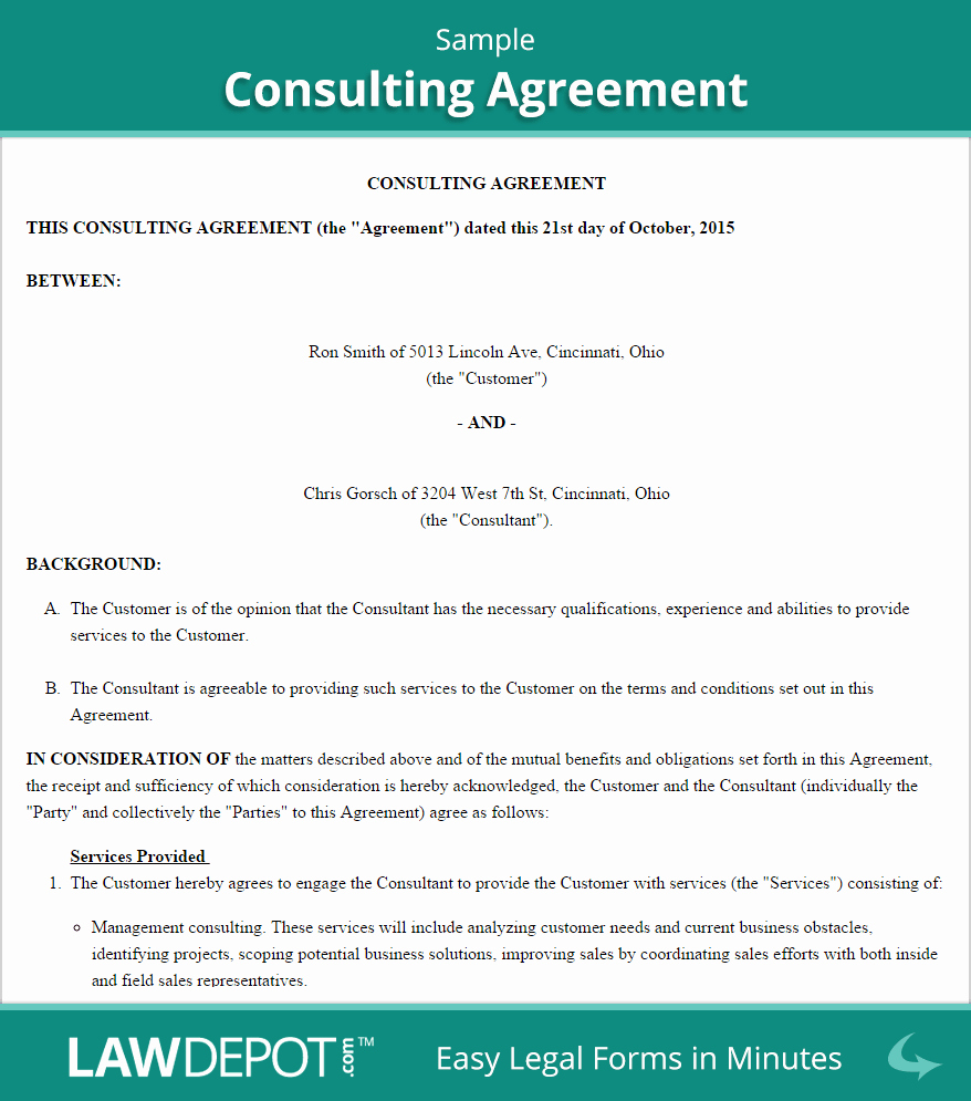 Consulting Contract Template Free Lovely Consulting Agreement Template Us