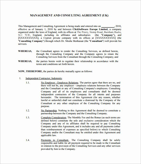Consulting Contract Template Free New 12 Consultant Contract Templates Free Word Pdf