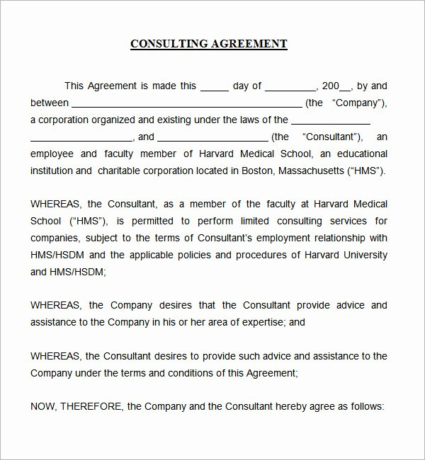 Consulting Contract Template Free New Consulting Agreement 5 Free Pdf Doc Download