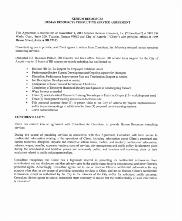 Consulting Contract Template Free Unique 40 Consulting Agreement Samples