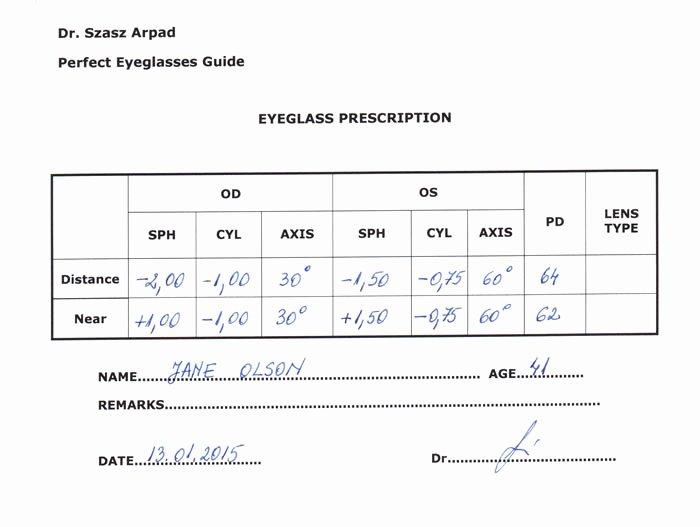 Contact Lens Prescription Template Beautiful Eyeglass Prescription Understand All the Parameters