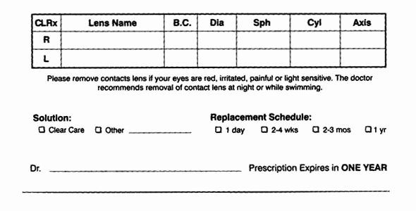 Contact Lens Prescription Template Best Of How to Read A Contact Lens Prescription