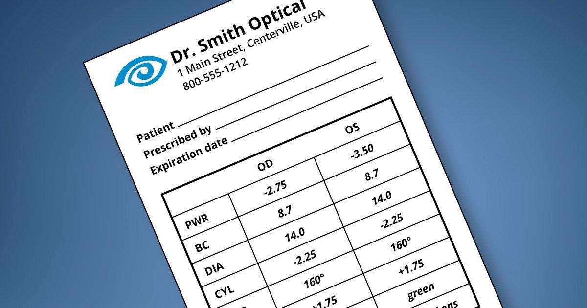 Contact Lens Prescription Template New Understanding Your Contact Lens Prescription