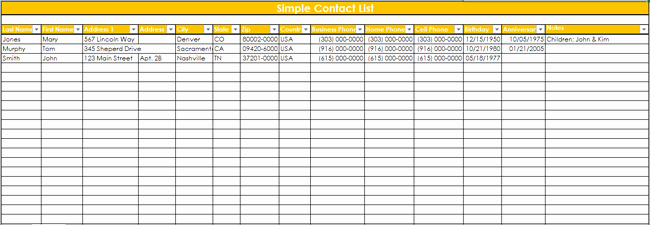 Contact List Excel Template Inspirational 9 Customer Contact List Templates In Word and Excel