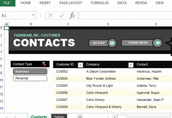 Contact List Excel Template Lovely Customer Contact List Excel Template