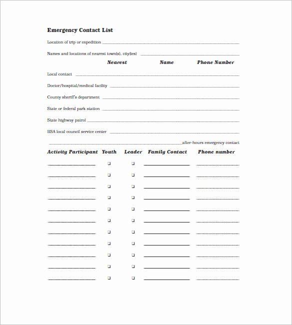 Contact List Template Pdf Elegant Contact List Template 10 Free Word Excel Pdf format