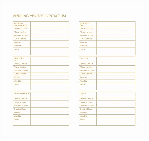 Contact List Template Pdf Inspirational 13 Contact List Templates – Pdf Word