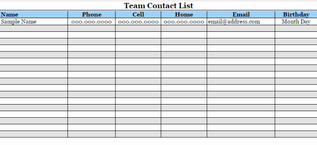 Contact List Template Pdf Luxury 24 Free Contact List Templates In Word Excel Pdf