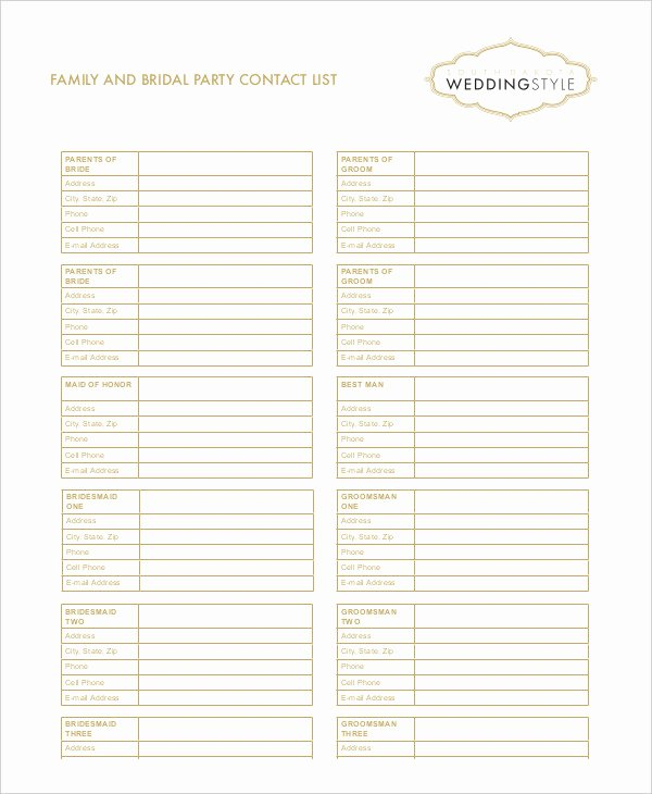 Contact List Template Pdf New Free Contact List Template 10 Free Word Pdf Documents
