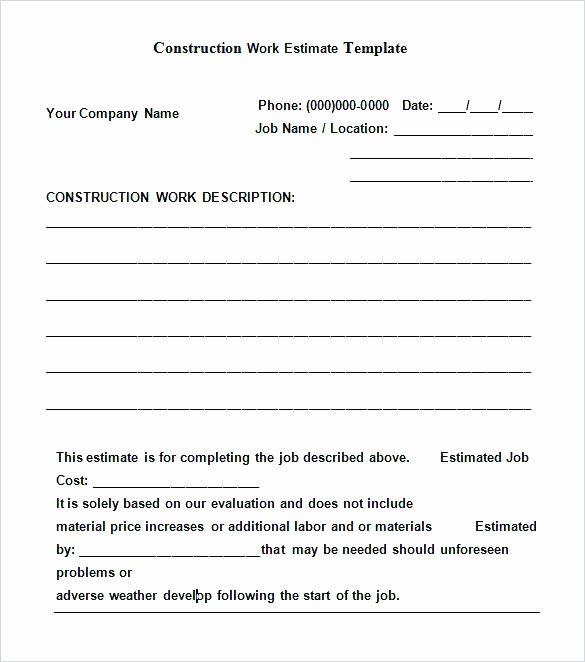 Contract for Construction Work Template Awesome Simple Works Contract Template – Irelay