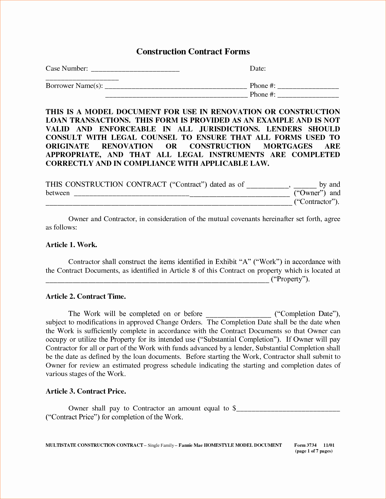 Contract for Construction Work Template Fresh 8 Construction Contract Samplereport Template Document