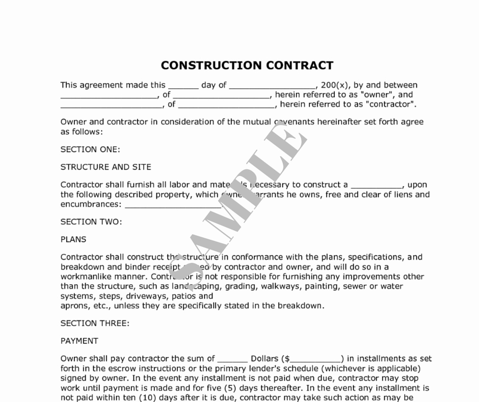 Contract for Construction Work Template Unique How to Decide the Right Renovation Contractor Kaodim