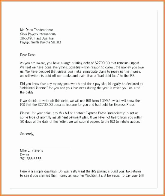 Contract for Money Owed Template Awesome Money Owed Letter Template – Thaimail