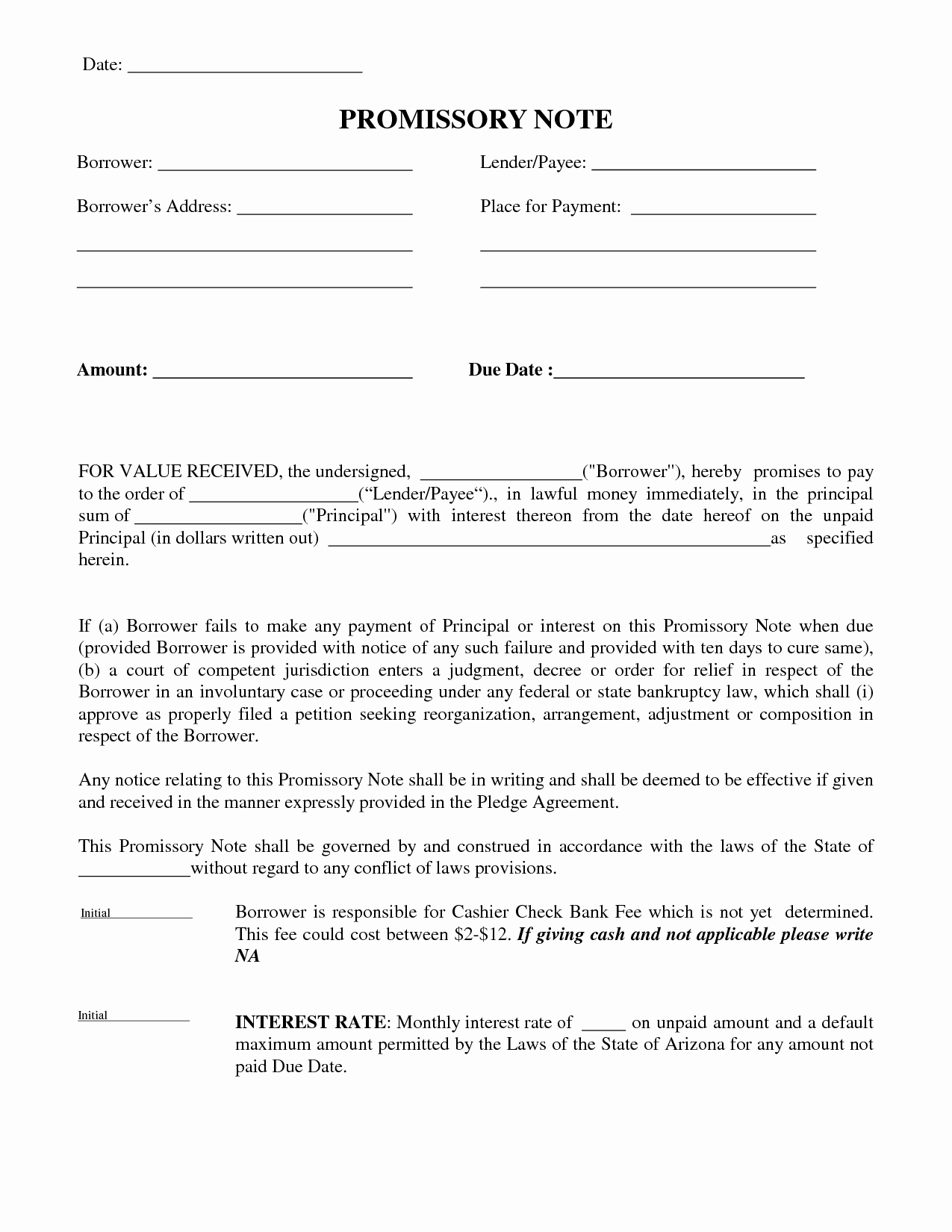 post money payment agreement letter
