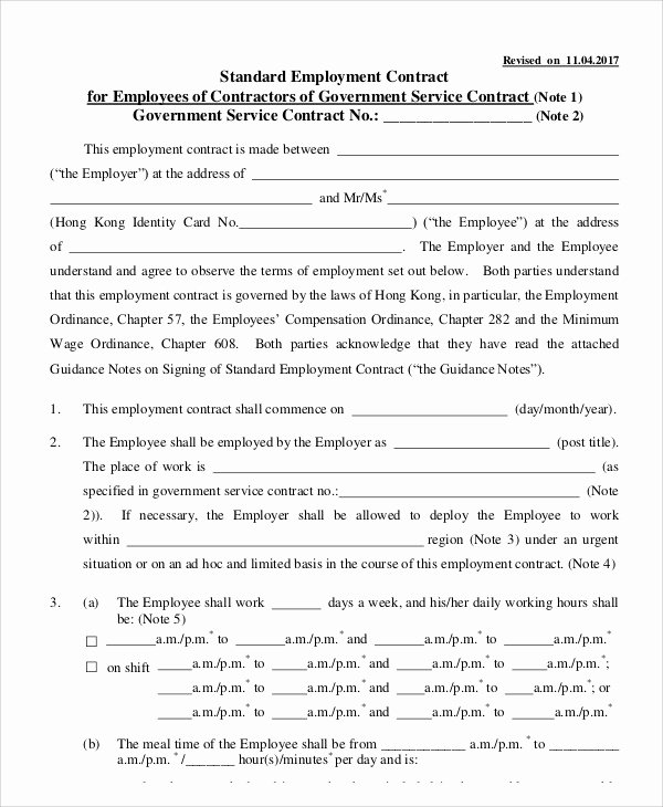 Contract Of Employment Template Elegant 14 Employment Contract Templates Pages Google Docs