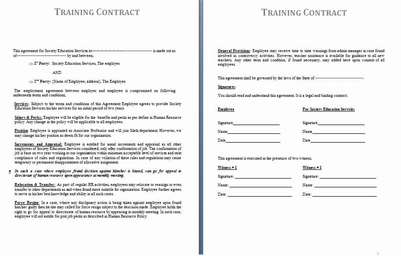 Contract Of Employment Template Lovely Free Contract Templates Word Pdf Agreements