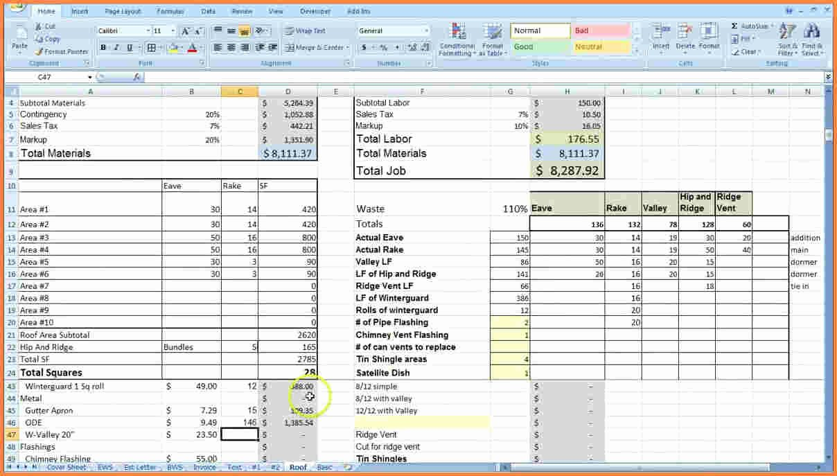 Contractor Estimate Template Excel Beautiful 9 Construction Job Costing Spreadsheet