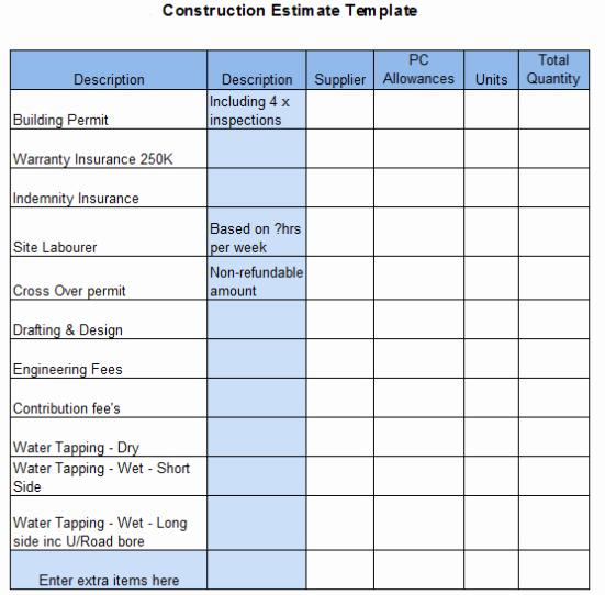 Contractor Estimate Template Excel Beautiful the top 6 Free Construction Estimate Templates Capterra Blog