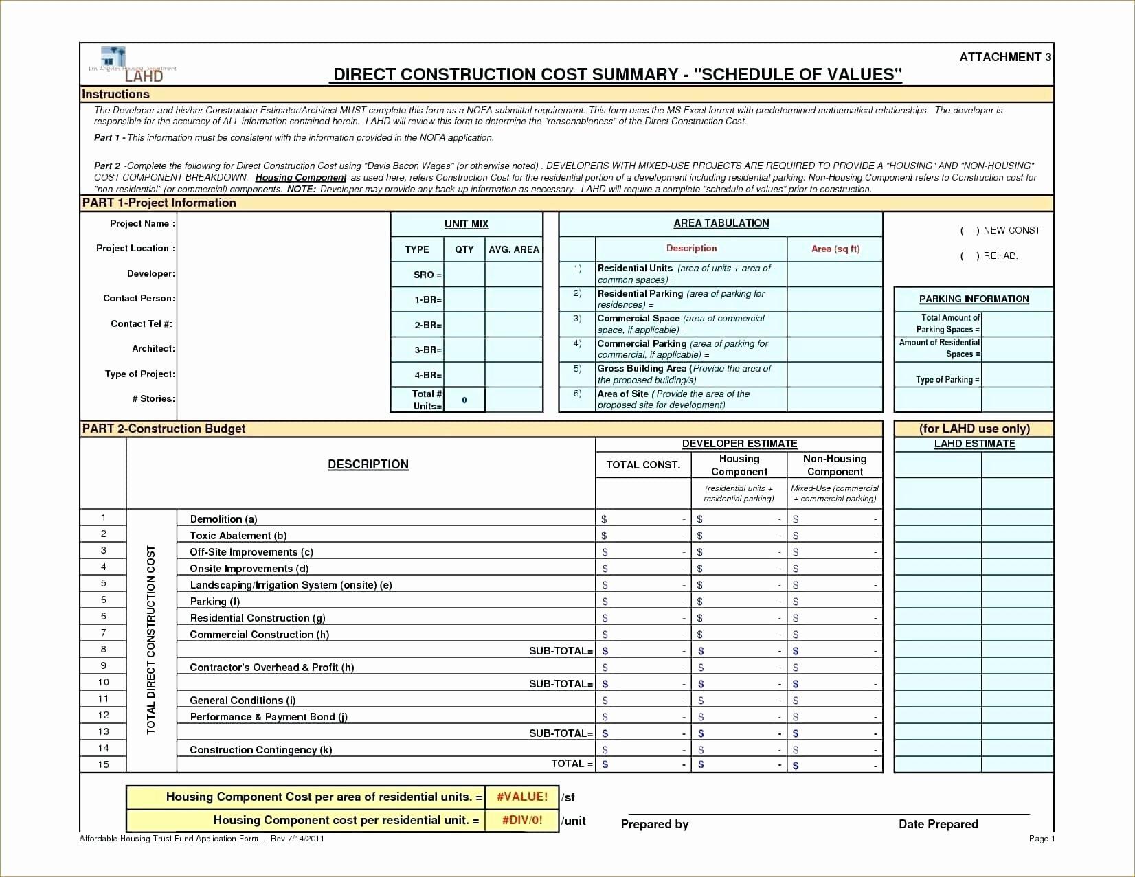 Contractor Estimate Template Excel Luxury Construction Estimate Template Excel