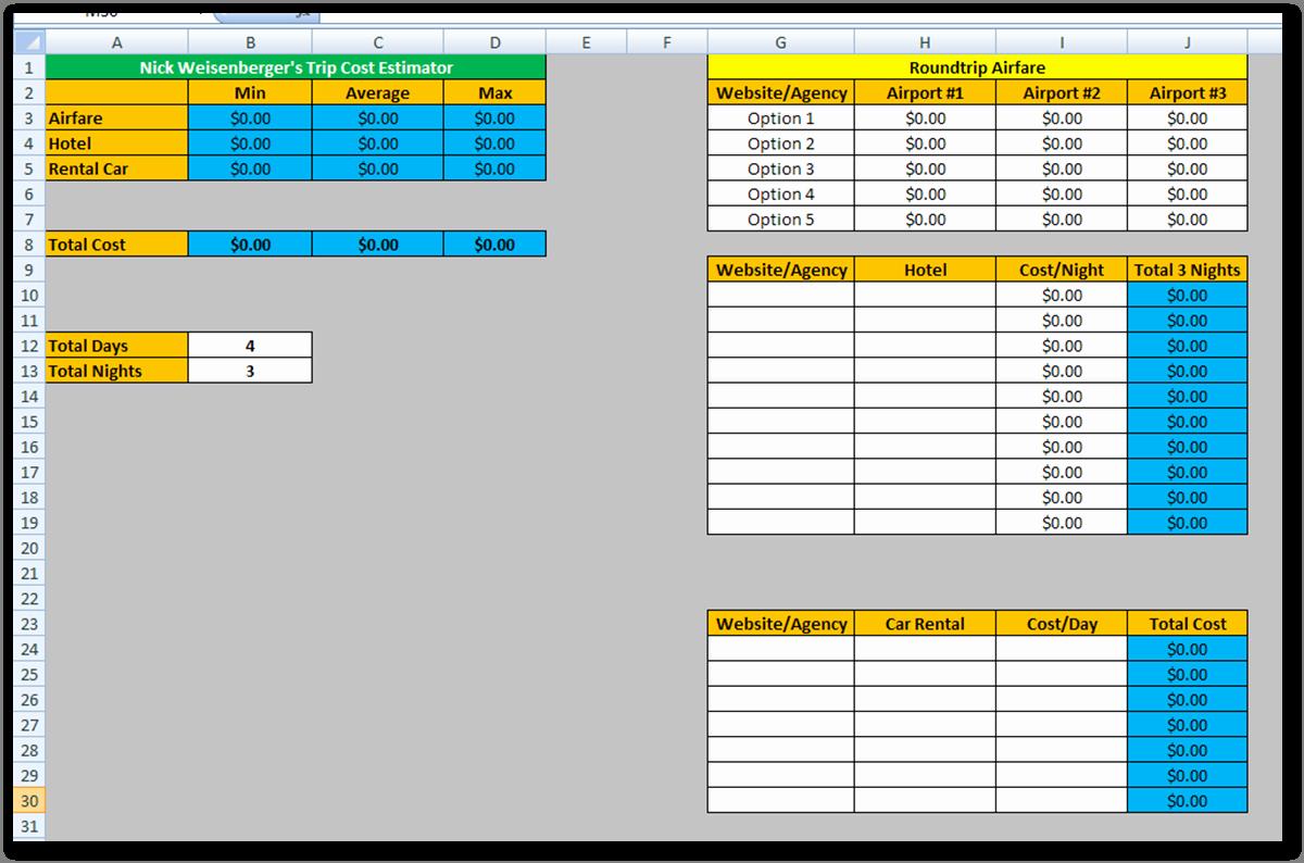 Contractor Estimate Template Excel Unique Estimating Spreadsheet Template Spreadsheet Templates for