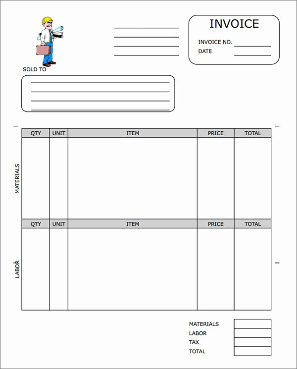 Contractor Invoice Template Excel Inspirational Sample Contractor Invoice Templates 14 Free Documents