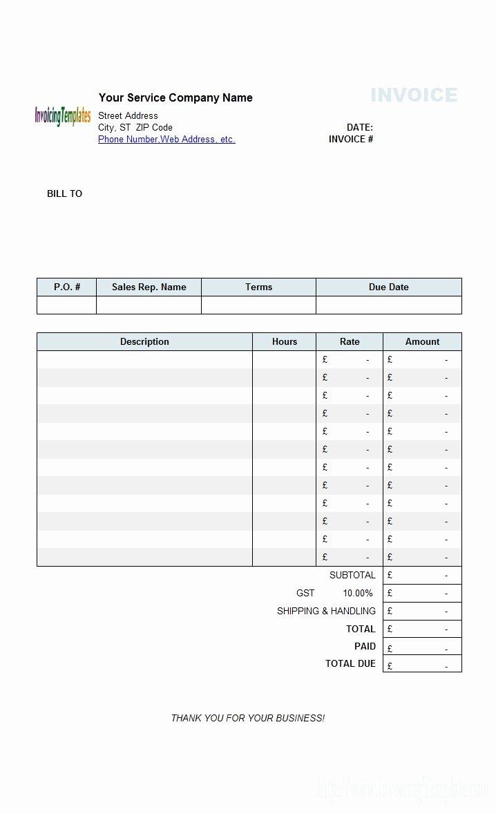 Contractor Invoice Template Free Elegant Blank Contractor Invoice Invoice Template Ideas