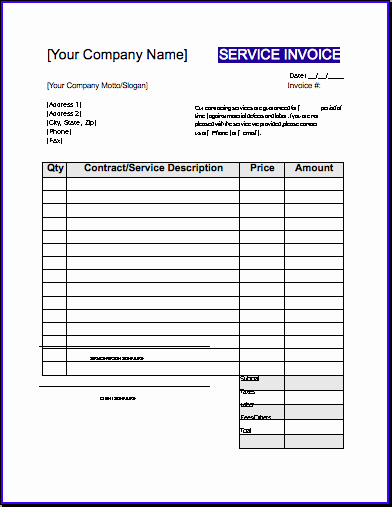 Contractor Invoice Template Free New Contractor Invoice Template Uk