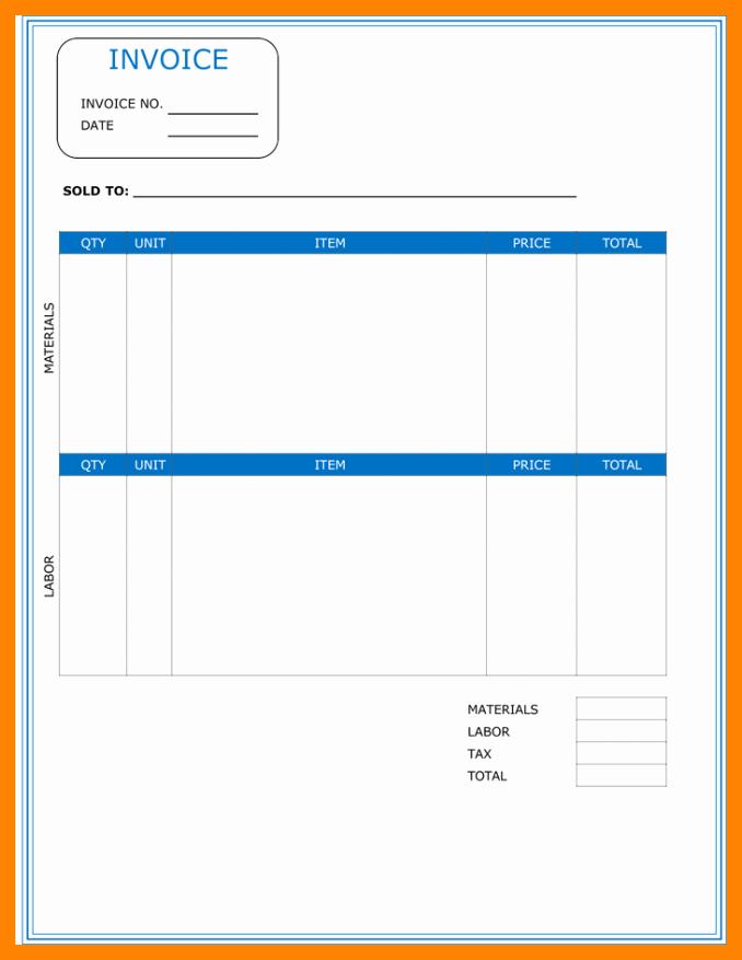 Contractor Invoice Template Free Unique 5 Free Printable Contractor Invoice Template