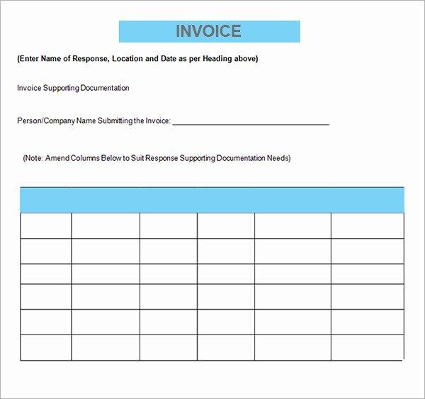 Contractor Invoice Template Free Unique Sample Contractor Invoice Templates 14 Free Documents