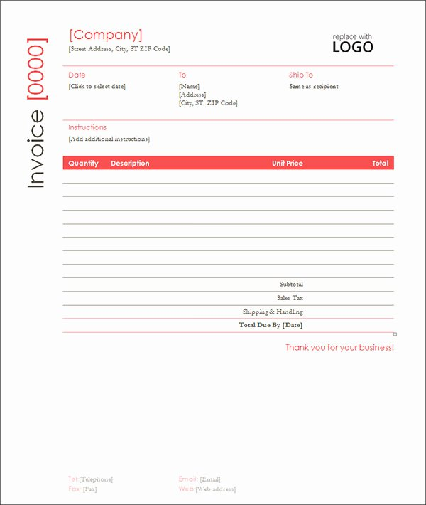 Contractor Invoice Template Word Elegant Sample Contractor Invoice Templates 14 Free Documents