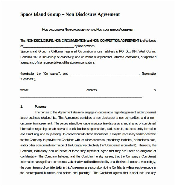 Contractor Non Compete Agreement Template Awesome 8 Non Pete Agreement Templates Doc Pdf