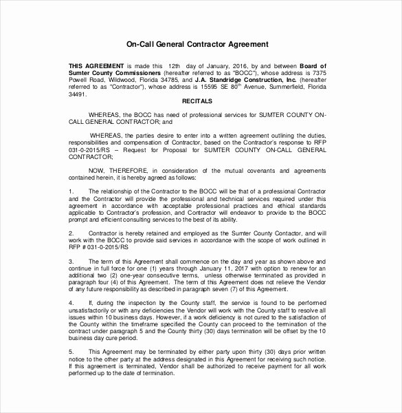 Contractors Contract Template Free Best Of Contractor Agreement Template – 22 Free Word Pdf Apple