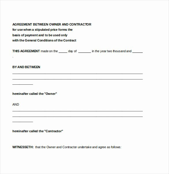 Contractors Contract Template Free Luxury Contractor Agreement Template – 22 Free Word Pdf Apple