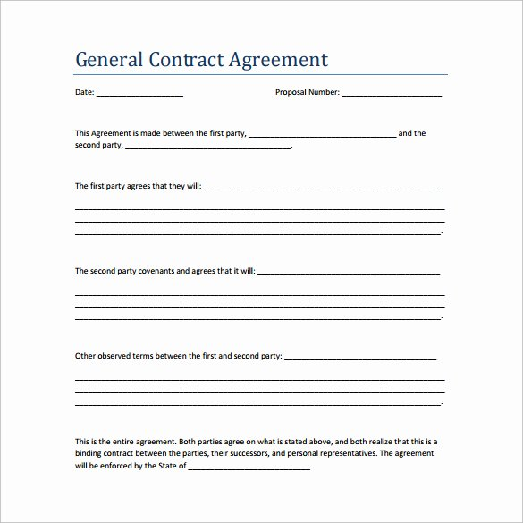 Contractors Contract Template Free New 19 Perfect Examples Of Business Contract Templates Thogati