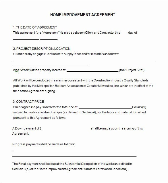 Contractors Contract Template Free Unique 10 Home Remodeling Contract Templates Word Docs Pages