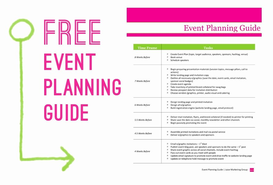 Corporate event Planning Checklist Template Awesome Free event Planning Template Via Juice Marketing Group