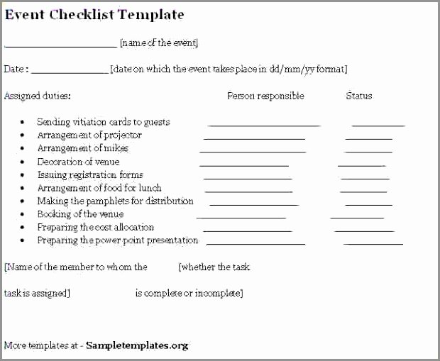 Corporate event Planning Checklist Template Beautiful Checklists Employee Reviewklist Template Benefit Household
