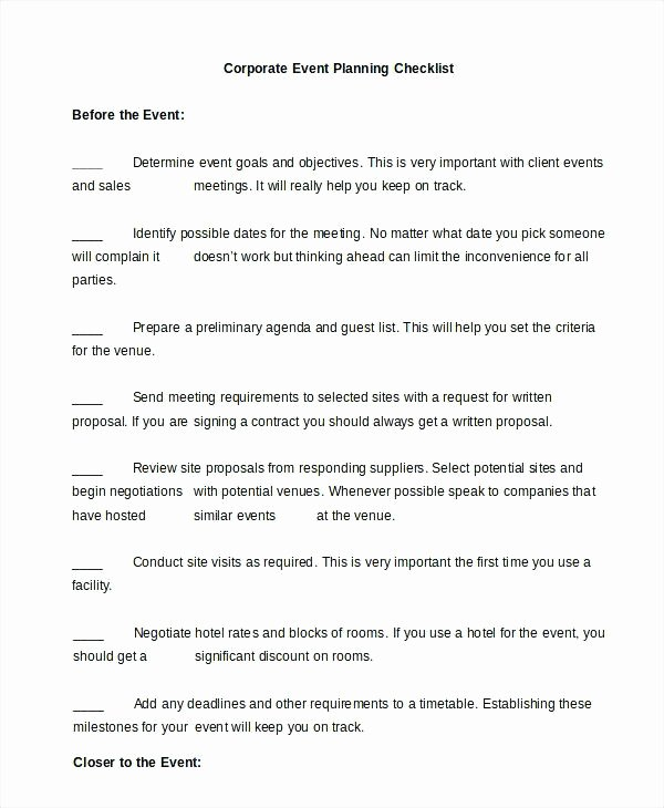 Corporate event Planning Template Best Of 7 Printable Conference Planning Checklist Meeting Template