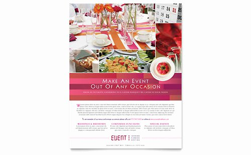 Corporate event Planning Template Inspirational Corporate event Planner & Caterer Brochure Template Design