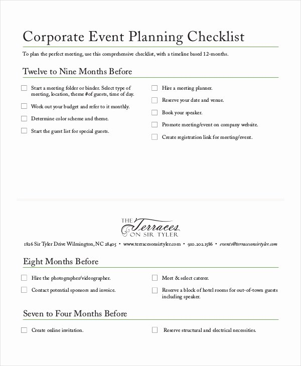 Corporate event Planning Template New Checklist Template 19 Free Word Excel Pdf Documents