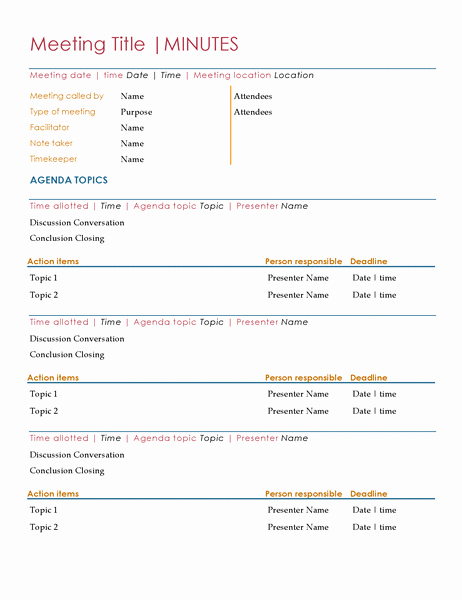 Corporate Meeting Minutes Template Word Beautiful Meeting Minutes
