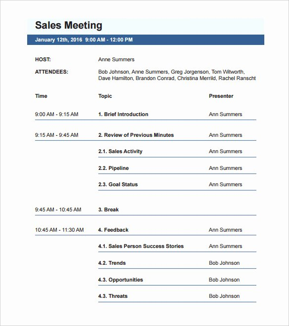 Corporate Meeting Minutes Template Word Lovely 50 Meeting Agenda Templates Pdf Doc