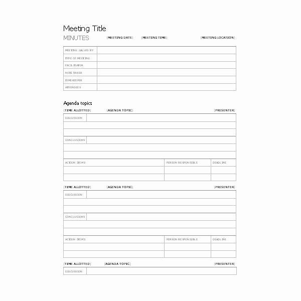 Corporate Meeting Minutes Template Word Luxury Free Templates for Business Meeting Minutes