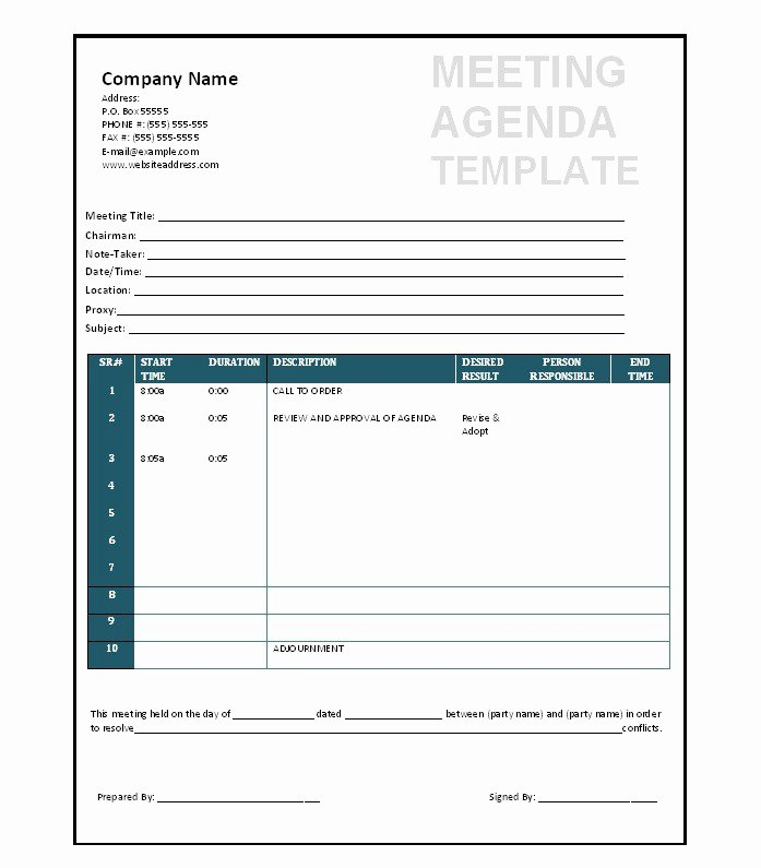 Corporate Meeting Minutes Template Word New 46 Effective Meeting Agenda Templates Template Lab