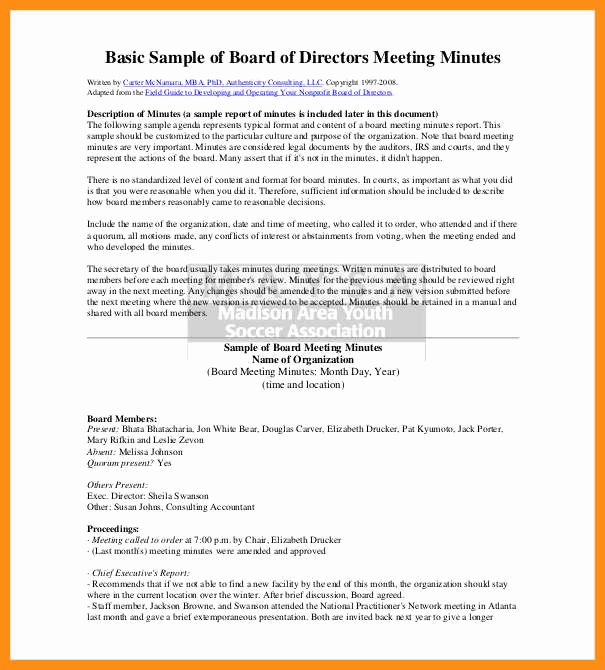 Corporate Meeting Minutes Template Word Unique 3 4 Sample Minutes Of Meeting format In Word