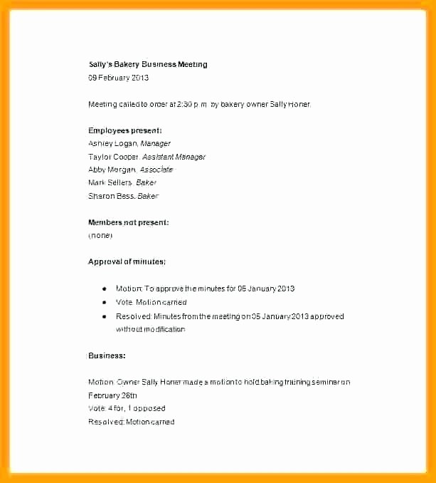 Corporate Minute Book Template Lovely Minute Writing format Sample How to Write Effective