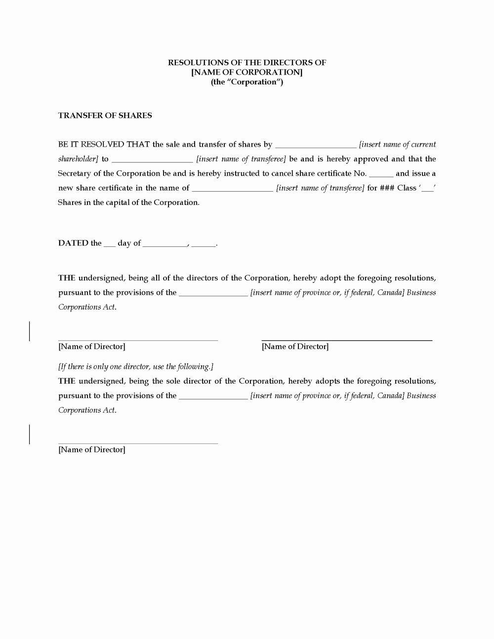 Corporate Resolution Authorized Signers Template Awesome Llc Corporate Resolution Template Templates