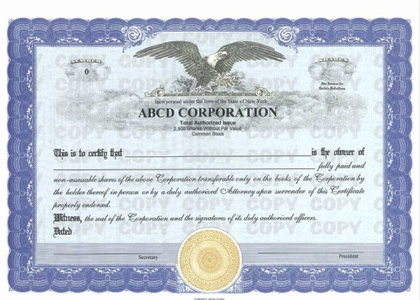 Corporate Stock Certificate Template Awesome Custom Stock Certificates