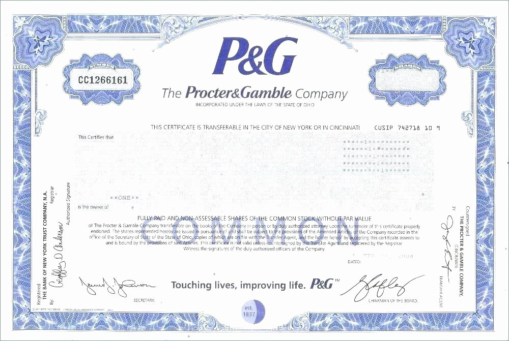 Corporate Stock Certificate Template Awesome Sample Stock Certificate Template – Goeventz