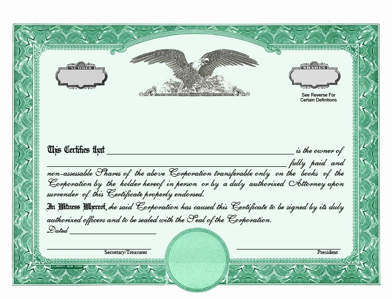 Corporate Stock Certificate Template Awesome Stock Certificate Designs